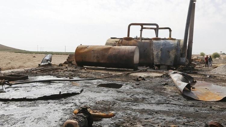 طائرات التحالف تقصف صهاريج نفط لداعش في سوريا