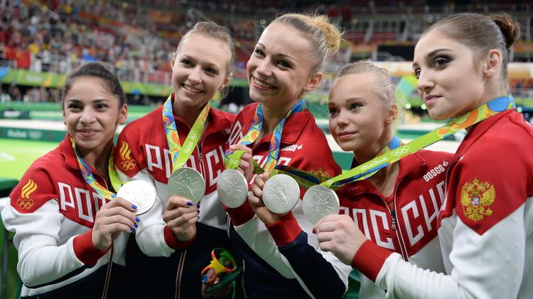 روسيا تحصد فضية الجمباز للفرق في أولمبياد