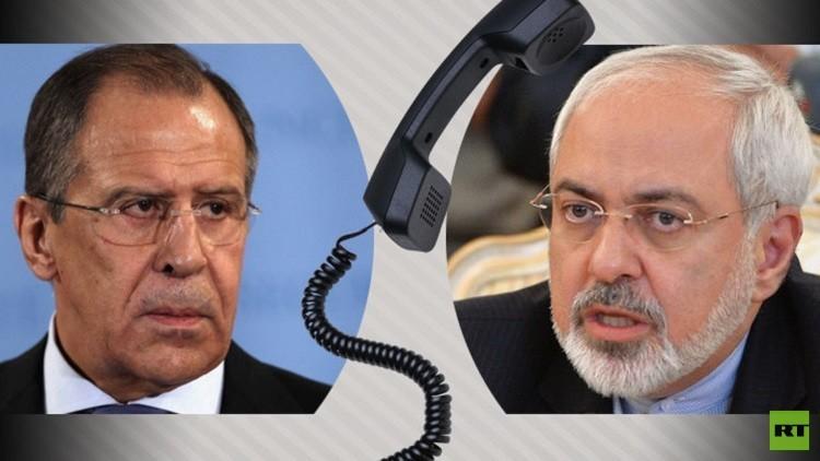 لافروف وظريف يبحثان هاتفيا دعم التسوية السورية