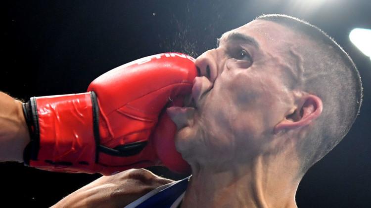 أولمبياد ريو 2016 - رياضي من هندوراس خلال مباراة الملاكمة، 7 أغسطس/آب 2016