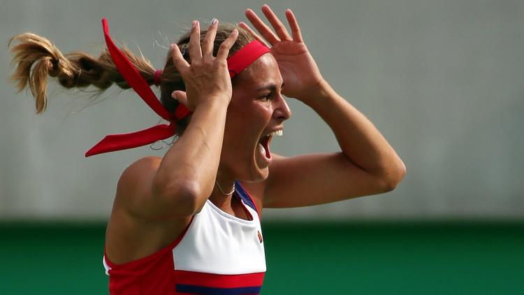 لاعبة تنس مغمورة تبلغ نهائي أولمبياد ريو!