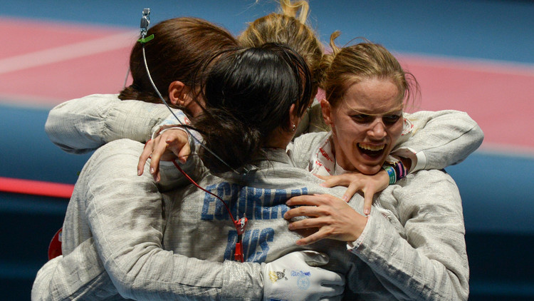 سيدات روسيا يفزن بذهبية المبارزة في  ريو