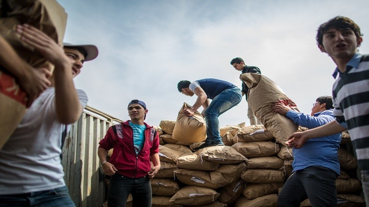 مساعدات إنسانية روسية لقرى اللاذقية