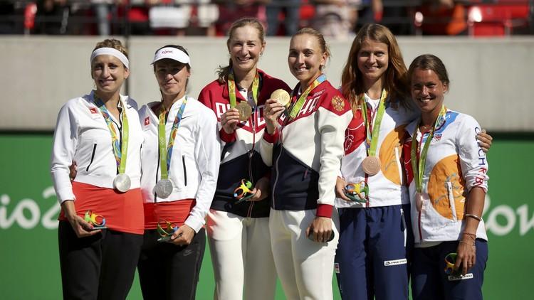 أولمبياد ريو .. روسيا تحصد ذهبية التنس لزوجي السيدات
