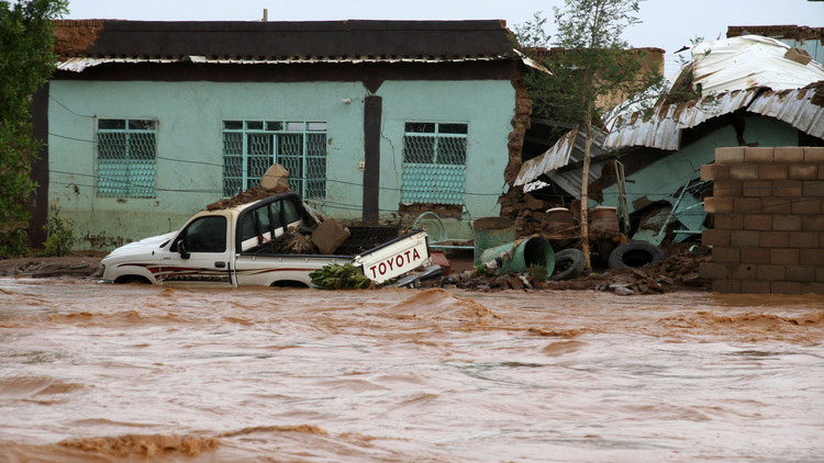 صورة أرشيفية لفيضانات في السودان