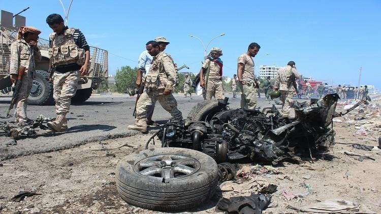 مقتل 4 جنود بتفجير انتحاري جنوب اليمن