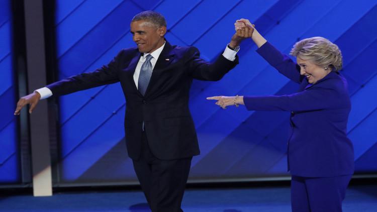 أوباما يحذر الديمقراطيين من الإفراط في الثقة بفوز كلينتون