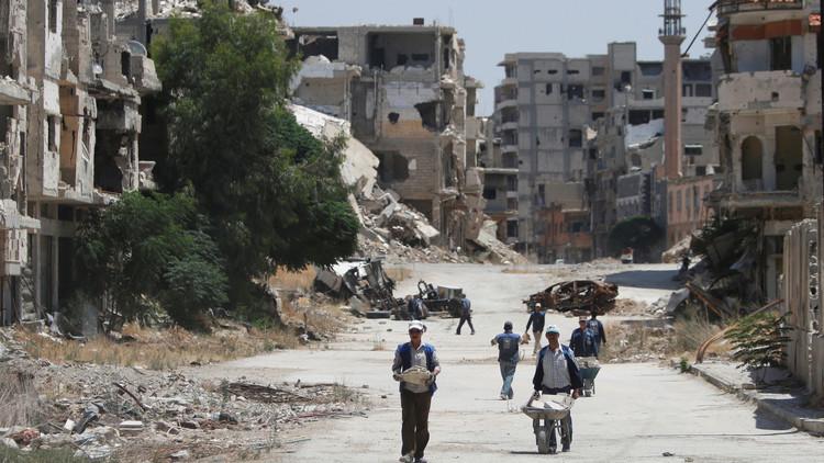 أضرار مادية جراء سقوط صاروخية على حي الزهراء بحمص