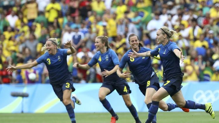 ريو 2016.. السويد تقصي البرازيل بركلات الترجيح وتبلغ النهائي