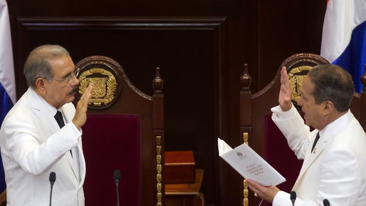 رئيس جمهورية الدومينيكان يؤدي اليمين الدستورية لولاية ثانية