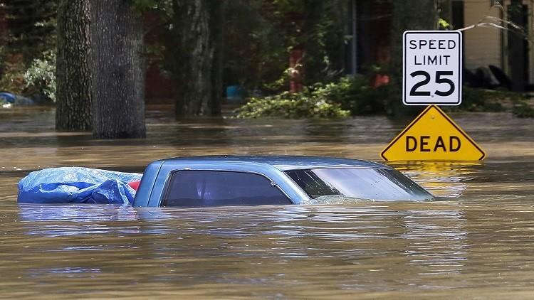 مصرع 11 شخصا جراء فيضانات في لويزيانا الأمريكية