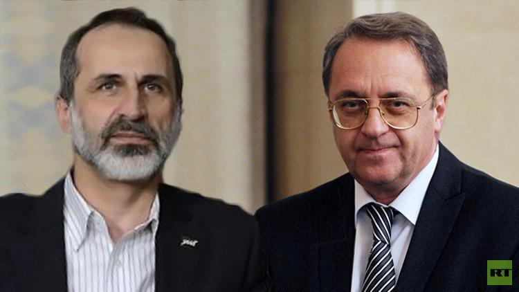 لقاء بوغدانوف-الخطيب.. لا بديل عن الحل السياسي في سوريا