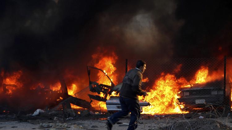 اندلاع حريق داخل معسكر العدالة في الكاظمية ببغداد