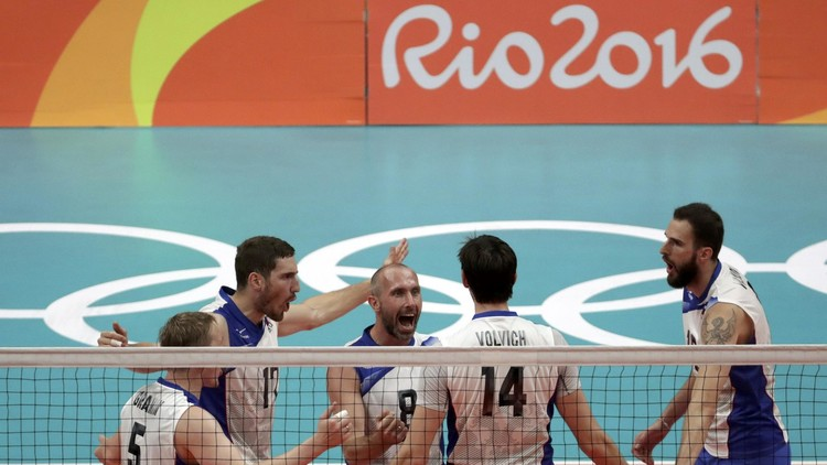 ريو 2016.. طائرة روسيا تتأهل لنصف النهائي