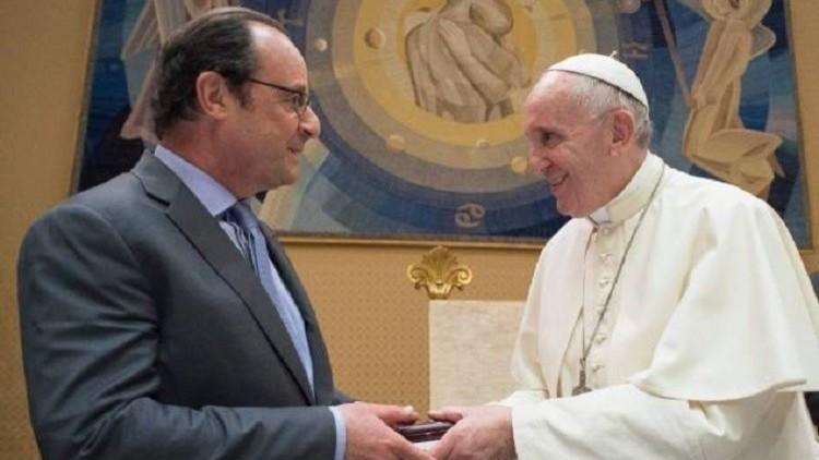 التضامن ضد الإرهاب ومسيحيو الشرق في صدارة لقاء هولاند مع البابا فرنسيس