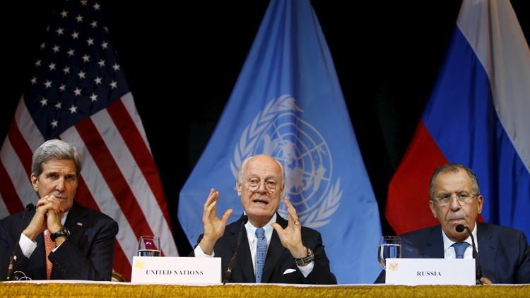لافروف وكيري في جنيف لاتخاذ موقف مشترك من الأزمة السورية
