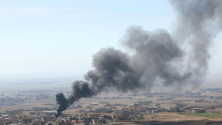 غارة جوية ومقتل 19 من قادة داعش بالموصل coobra.net