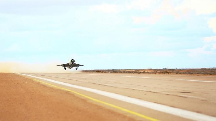 تحليقات للقوات الليبية لمنع فرار المسلحين من سرت