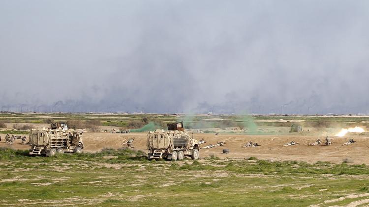 داعش وقصف قرية في نينوى بصواريخ تحمل غاز الكلور coobra.net