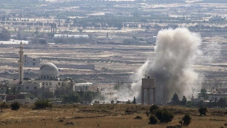 قصف جوي إسرائيلي لموقع عسكري سوري بالجولان