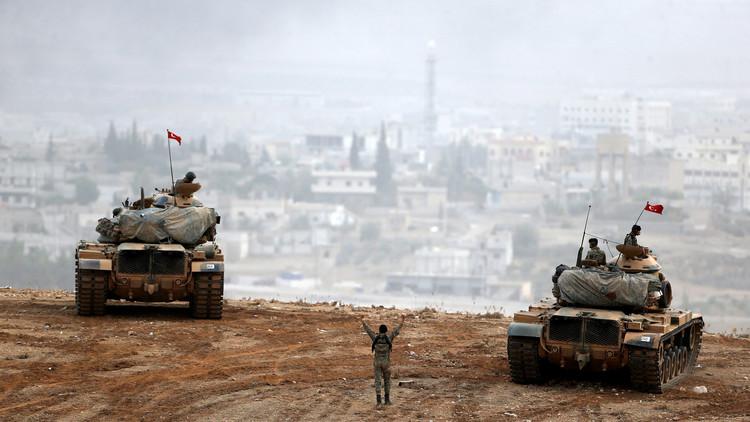 قصف مواقع الأكراد وداعش فى شمال سوريا coobra.net