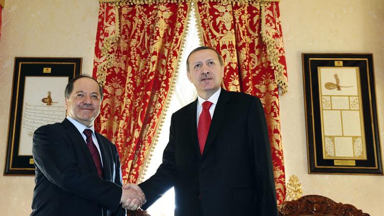 أردوغان والبارزاني يبحثان قتال