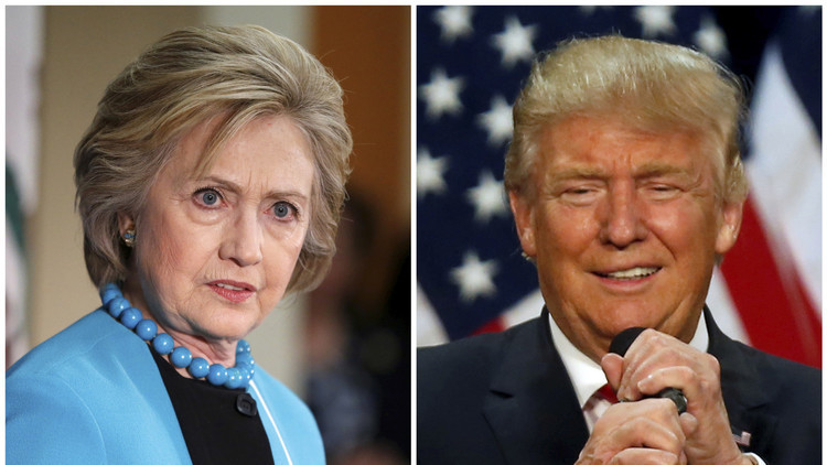 كلينتون تتقدم على ترامب بفارق 12%