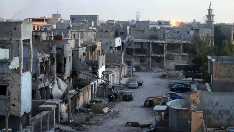 داعش يصور من الجو عملية انتحارية ببنغازي
