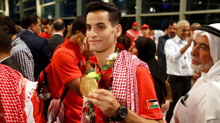 استقبال رسمي وشعبي لبطل الأردن الذهبي أبو غوش