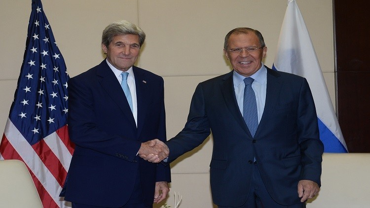 لافروف وكيري في جنيف لإتمام تفاصيل التعاون بشأن سوريا