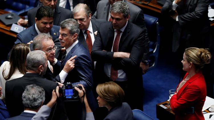 إقالة روسيف.. مجلس الشيوخ البرازيلي يعلق جلسة كادت أن تصل إلى شجار