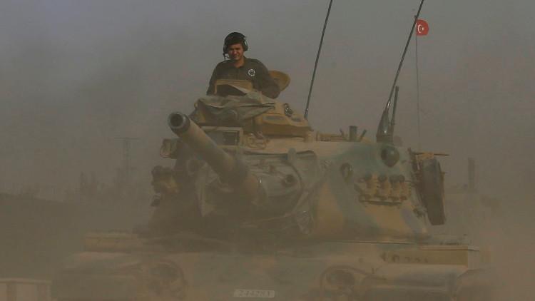 سوريا.. جرح 3 جنود أتراك بصاروخ أطلق على دبابتهم قرب جرابلس