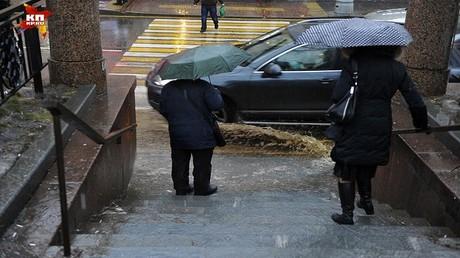 كمية  من المطر سقطت في موسكو تزيد عن كل المعدلات