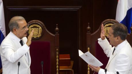 دانيلو ميدينا، رئيس جمهورية الدومينيكان، يؤدي اليمين الدستورية لولاية ثانية في 16 أغسطس/آب 2016