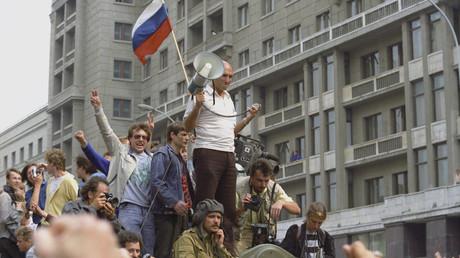 موسكو في 19 أغسطس/آب عام 1991