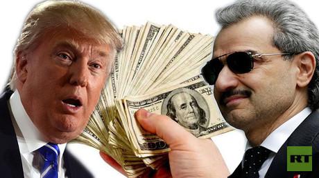الأمير الوليد بن طلال ودونالد ترامب