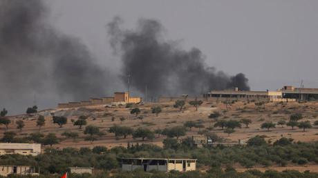 الدخان يتصاعد من جرابلس
