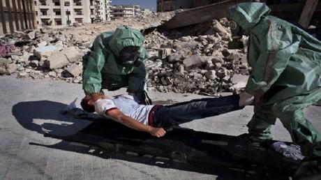 تدريبات على صد هجوم كيميائي في حلب (صورة أرشيفية)