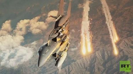 طائرات التحالف تقصف مواقع داعش