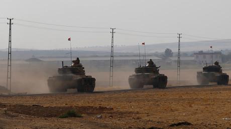 دبابات تركية داخل الحدود السورية