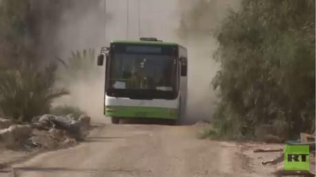 إخراج المدنيين والمسلحين من داريا