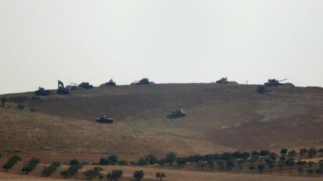 دبابات تركية في محيط جرابلس