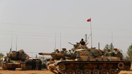 الدبابات التركية في سوريا