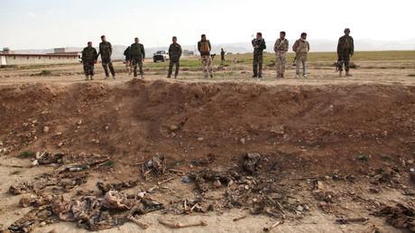 إحدى المقابر الجماعية في سنجار