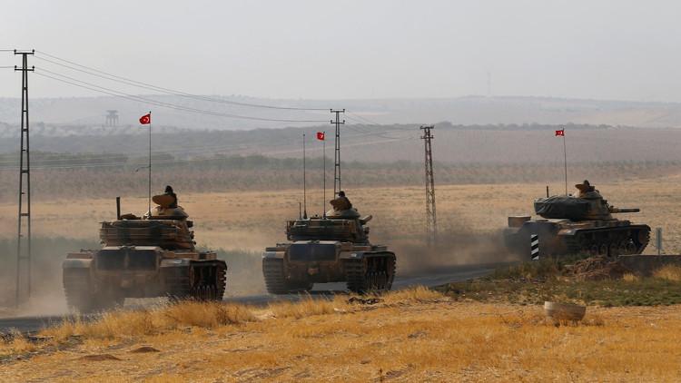 تعزيزات عسكرية تركية كبيرة على الحدود مع سوريا