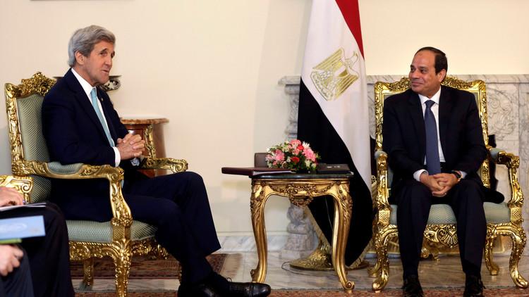 السيسي وكيري يناقشان الوضع في سوريا وليبيا