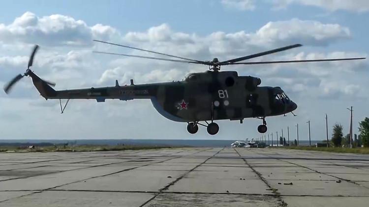 احتراق مروحية روسية إثر هبوط اضطراري