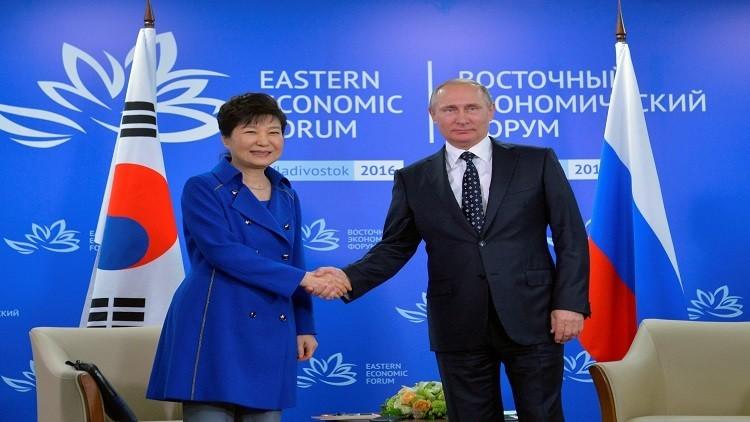 الرئيسة بارك تتلقى هدية مفاجئة من بوتين