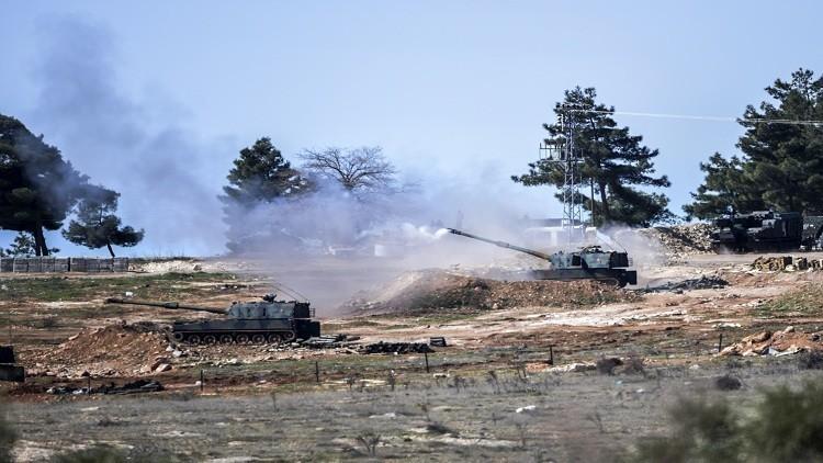 قصف تركي لمواقع