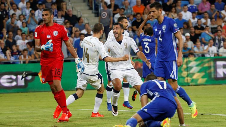 إيطاليا تهزم إسرائيل بـ 10 لاعبين